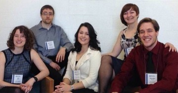 Team members (left to right) Alison Matfin, Clayton McBride, Stephanie Doherty, Maureen Long, Brenden Vissers
