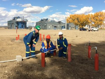 The Environmental Remediation Group creating an in-situ groundwater treatment system.